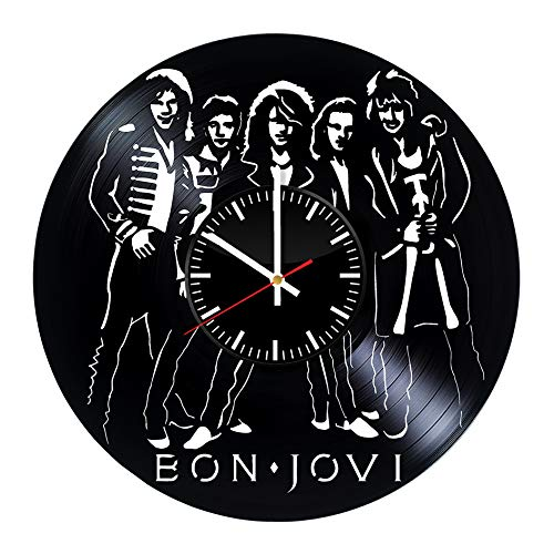 i Vinyl Clock - Music Band Best Original Christmas Wedding Birthday Gift - Art Wall Room Home Decor Handmade Decoration - Vintage Modern Style ()