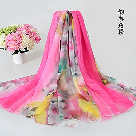 YRXDD Bufandas de Seda señoras Primavera y otoño Salvaje mantón con Toallas de párrafo Largo Toallas