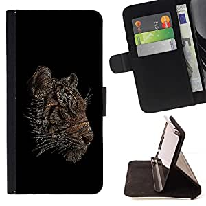 BETTY - FOR Samsung Galaxy Core Prime - cool word art tiger animal black sexy - Style PU Leather Case Wallet Flip Stand Flap Closure Cover