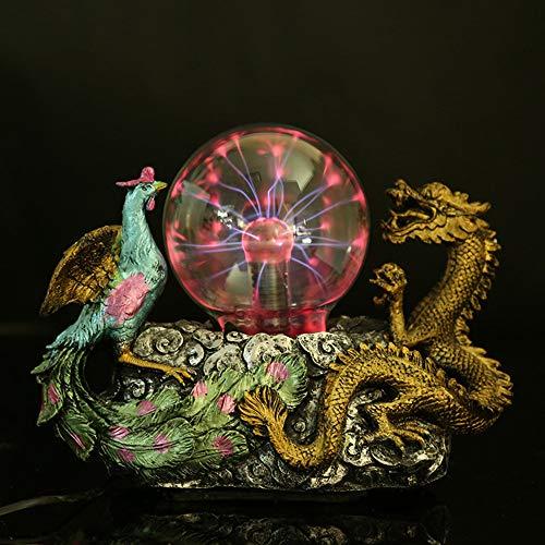 Aibote Magic Dragon and Phoenix Glass Lightning Plasma