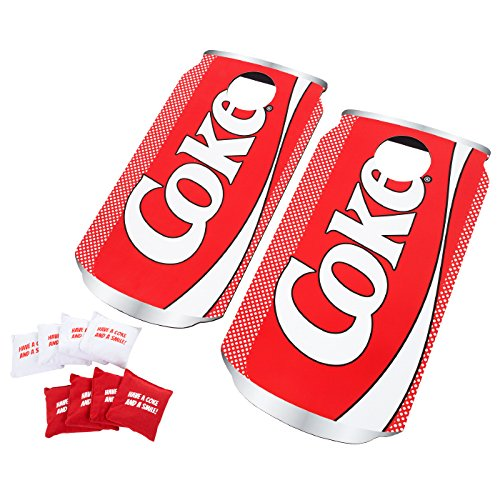 Officially Licensed Coke Design Cornhole Bean Bag Toss Game - Includes 8 Bean Bags! by TMG