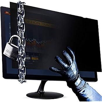 "Info Protection for Desktop Computer Security Blocks 96/% UV 16:10 Anti-Scratch APF19.0W Anti-Glare Matte or Gloss Finish Privacy Filter Protector Adaptix Monitor Privacy Screen 19/"""