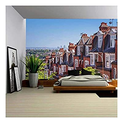 Handsome Visual, That's 100% USA Made, Brick Houses of Muswell Hill and Panorama of London with Canary Wharf London UK