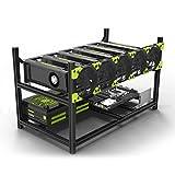 Veddha Aluminum GPU Mining Case Rig Open Air Frame For ETH/ETC/ ZCash (6 GPU)