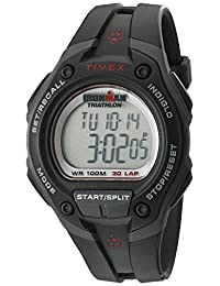 Timex Men's T5K417 Ironman Traditional 30-Lap Overview Black Resin Strap Watch