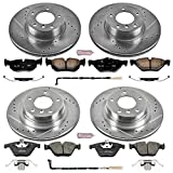 Power Stop K4107 Front and Rear Z23 Evolution Brake Kit with Drilled/Slotted Rotors and Ceramic Brake Pads