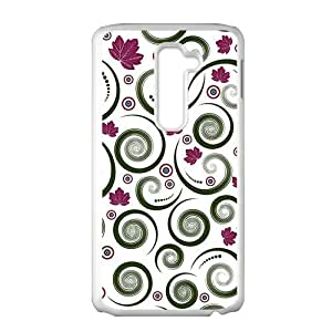 Unique maple leaves spiral pattern Phone Case for LG G2 wangjiang maoyi