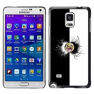 Samsung Galaxy Note 4 - Metal de aluminio y de plástico duro Caja del teléfono - Negro - Black & White Awesome Face Meme