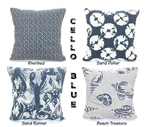 Andrea1Oliver - Fundas para Cojines náuticos, Color Azul ...