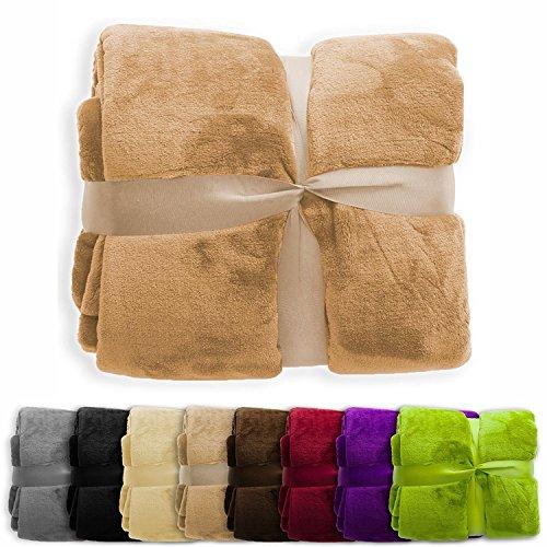 casa pura Fleece Throw Blanket | Plush Blanket Throw for Cou