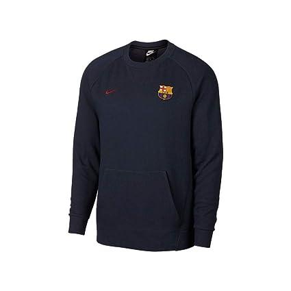 98ec87ca346 Amazon.com   Nike 2018-2019 Barcelona Authentic Venue Crew Sweatshirt  (Obsidian)   Sports   Outdoors