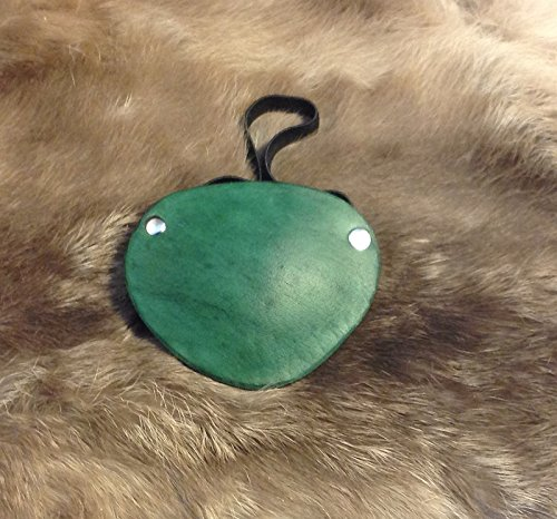 Nickel Studded Light Green Leather Pirate Eye Patch