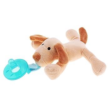 NON Sharplace Peluche Suave Pacificador de Silicón de Bebé Juguetes de Necesidad Especial Aprender - Perro