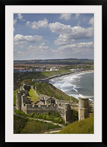 greatBIGcanvas Scarborough Castle, Scarborough, North Yorkshire, England by David Wall Photographic Print with Black Frame, 24