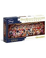 Clementoni Volwassen Puzzel, Disney Orchestra - 1000 Stukjes - Panorama Puzzle, 14-99 jaar, 39445