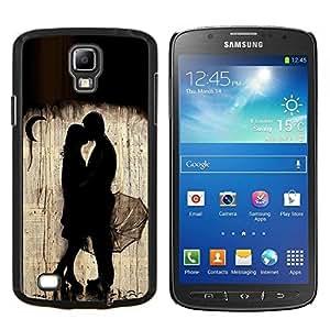 LECELL--Funda protectora / Cubierta / Piel For Samsung Galaxy S4 Active i9295 -- Lluvia Luna Pareja profundas de San Valentín --