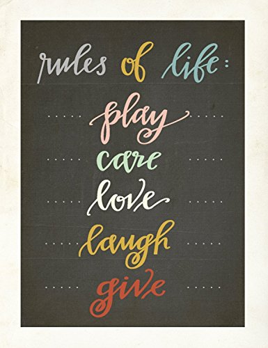The Rules Mini Collection 18x24 Inch Canvas Wall Art Prints, Typography, Nursery Decor, Kid's Wall Art Print, Kid's Room Decor, Gender Neutral, Motivational Word Ar by Children Inspire Design (Image #3)