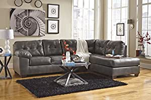 Ashley 20102-17-66 Alliston Sectional Sofa with Right Arm Facing Corner Chaise and Left Arm Facing Sofa in