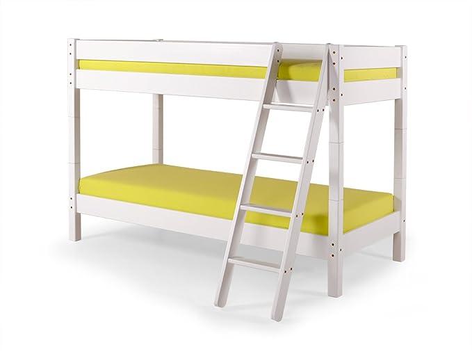 Yogi Etagenbett : Moebel eins yogi etagenbett mit leiter 90x200 kiefer weiß: amazon.de