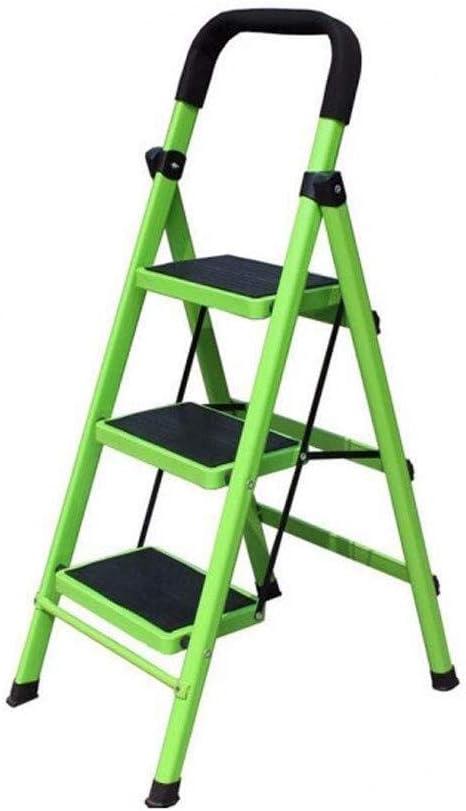 Escalera De Aluminio, Escalera De Escalada Retráctil, Soporte Plegable For El Hogar, Taburete Antideslizante, Escalera Escalonada Engrosada (Color: Verde): Amazon.es: Electrónica