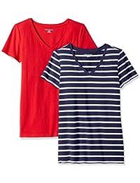 b55accd03ee Women s 2-Pack Short-Sleeve V-Neck T-Shirt