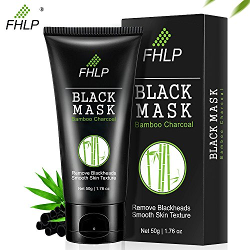 Black Mask Blackhead Remover Mask, Whitehead Acne Removal Peel Off Facial Mask Purifying Bamboo Charcoal Deep Cleaning for Face Nose, 50g