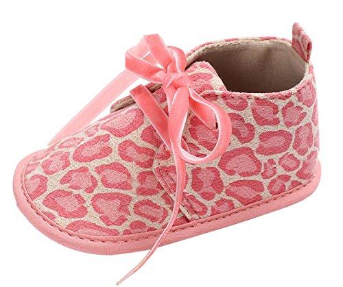 GEMVIE Zapatos Patucos De Bebé Unisex Primeros Pasos Antideslizante Suela Suave Marrón Leopardo Longuitud de pie 13cm bLCw1Mnm2l
