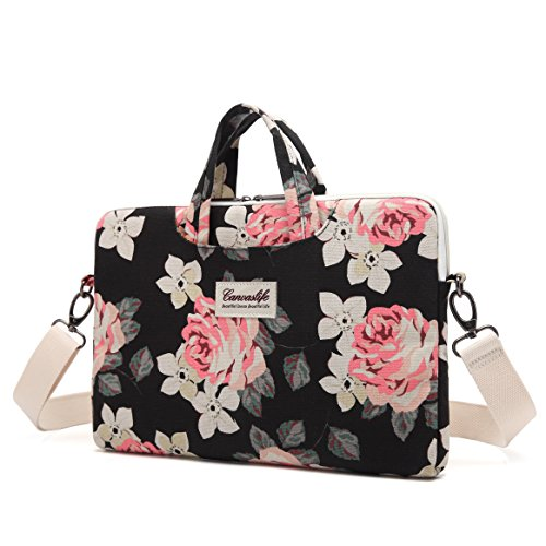 Canvaslife-Rose-Patten-Canvas-Laptop-Shoulder-Messenger-Bag-Case-Sleeve-for-11-Inch-12-Inch-13-Inch-Laptop-and-Macbook-Air-Pro-11-12-13