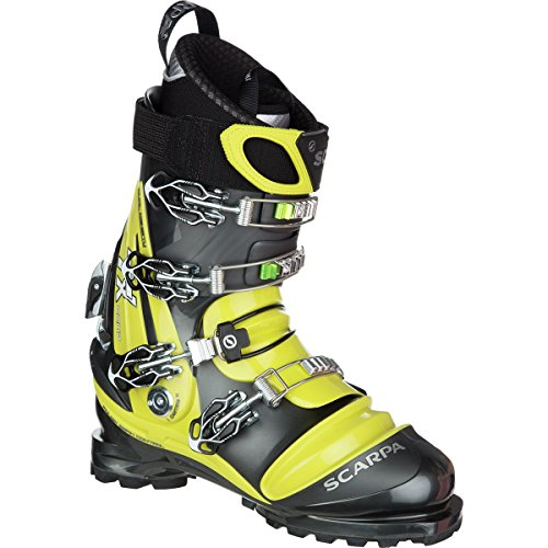 Scarpa Unisex TX Comp Ski Boots Anthracite / Acid Green 29.5 by SCARPA