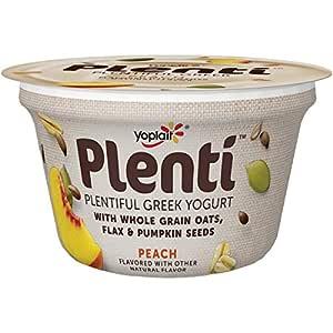 Yoplait, Plenti Plentiful Greek Yogurt, Peach, 5.5 oz ...