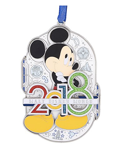 Walt Disney World 2018 Mickey Mouse Metal Ornament - Mouse Dated Ornament