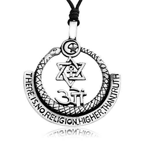 Namaste Jewelers Religion Truth Peace Symbol Pendant Necklace Pewter Jewelry