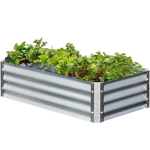 - EarthMark Bajo Series 22 in. x 40 in. x 10 in. Rectangle Galvanized Metal Raised Garden Bed
