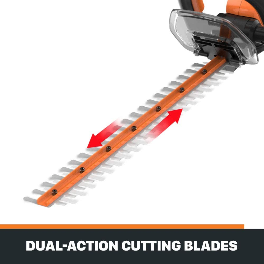 WORX WG261.9 20V Power Share 22-Inch Cordless Hedge Trimmer, Bare Tool Only