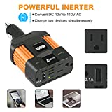 Ampeak 100W Car Power Inverter DC 12V to 110V AC