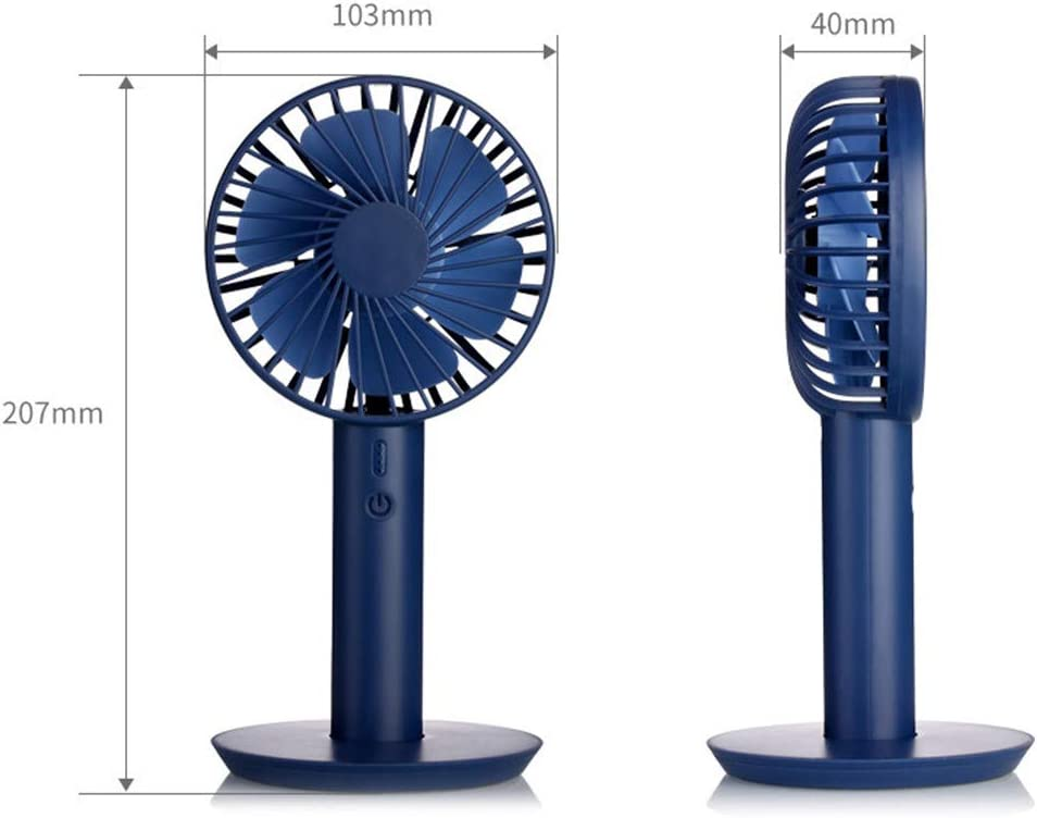 Philohewen Portable Mini Fan with Display Screen USB Rechargeable Hand-held Cooling Fan Summer Heat Dissipation Artifact Vertical Mini Fan Suitable for Study Bedroom Office