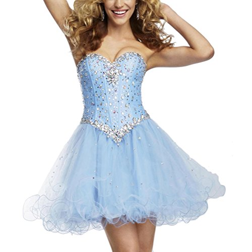 Cloudshop Womens Sweetheart Above Knee Tulle Cocktail Homecoming Dress size 22
