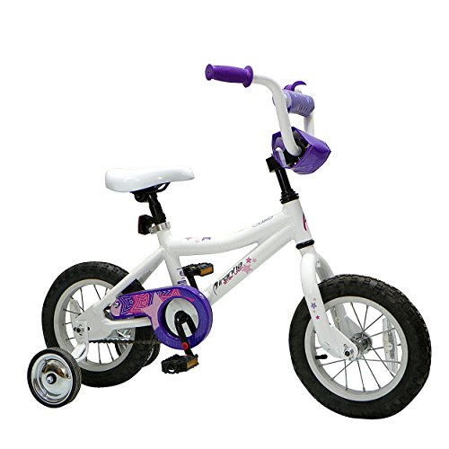 Piranha Bitsy Lady Kid's Bike, 12 inch Wheels, 10 inch Frame, Girl's Bike, White