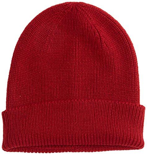 Burton Menswear London Fisherman, Gorro de Punto para Hombre Rojo (Red 188)