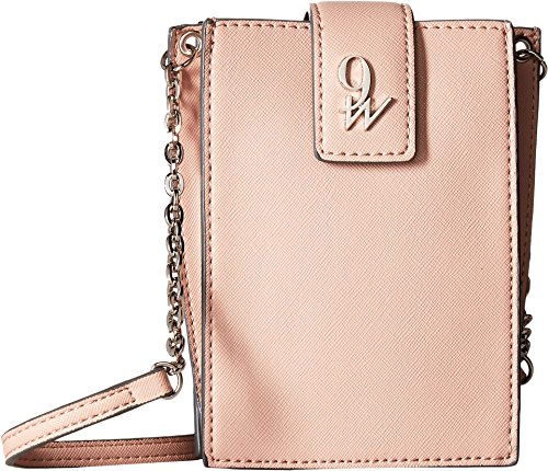 West Full Flap (Nine West Women's Full of Sparkle Small Phone Crossbody New Mauve One Size)