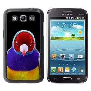 TopCaseStore / la caja del caucho duro de la cubierta de protección de la piel - Purple Tropical Beak Feather - Samsung Galaxy Win I8550 I8552 Grand Quattro