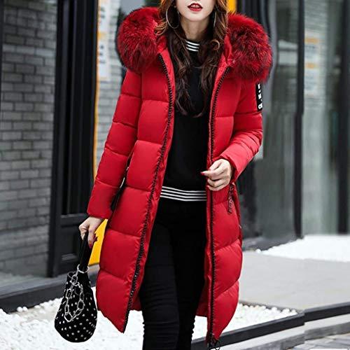 Invierno Acolchado Pluma Largos Moda Larga Con Manga Talla Parka Capucha Espesar Caliente Rot Mujer Piel Grande Abrigo De Elegantes Plumas rqfXpUrw