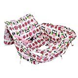per 2in1 Shopping Cart Cover High Chair Cover Protective Cushion Full Safety Harness Universal Fit Foldable and Washable for Baby Toddlers