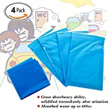 Travelmall Disposable Travel Urinal Bags for Emergency Traffic Jam Pee Bag Car Toilet for kids, men and women (4 pack)