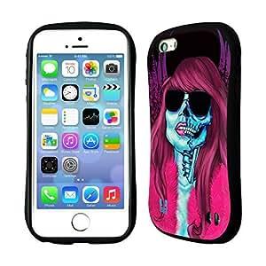 Head Case Designs Groupie Skull of Rock Hybrid Gel Back Case for Apple iPhone 5 5s by ruishername