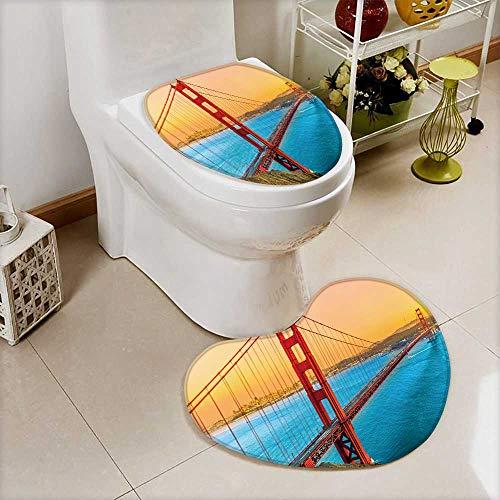 Printsonne Non-slip Bath Toilet Mat golden gate bridge in san francisco california usa Soft Non-Slip Water