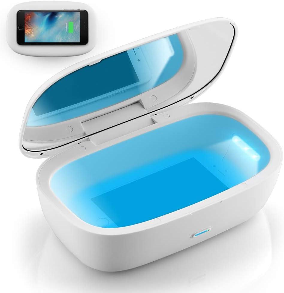 Sterilisieren f/ür Handy UV Sterilisator Desinfektion box Kleidung T/ötet 99,9/% der Keimviren Tragbare Desinfektionsbeutel UV Sterilisator bag mit 12 UVC desinfektionslampe Sch/önheitswerkzeuge