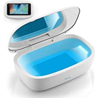 UV Light Sanitizer Box with Wireless Charger, Portable UVC Sanitizer Disinfection Box for Cell Phone, Makeup Tools…