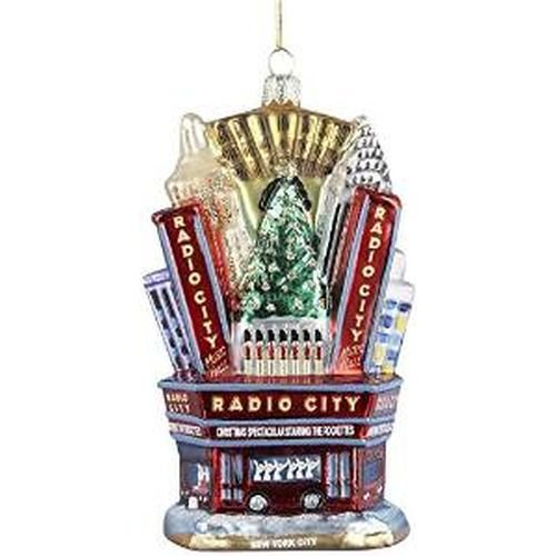 Kurt Adler Radio City Music Hall Glass Ornament, 5-Inch