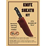 Medium Leather Knife Sheath Kit 6''